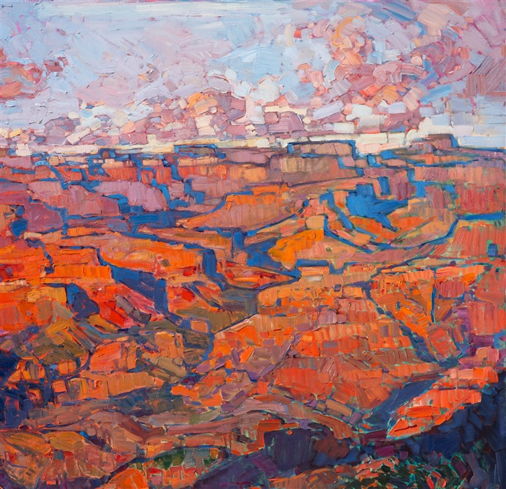 Detail of Grand Canyon in Orange, by Erin Hanson