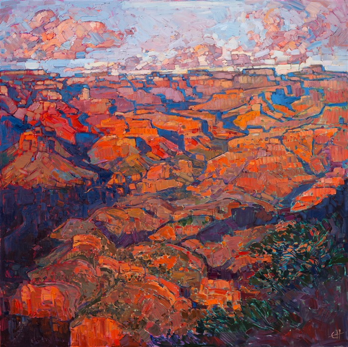 Grand Canyon oil painting by modern impressionist master Erin Hanson.