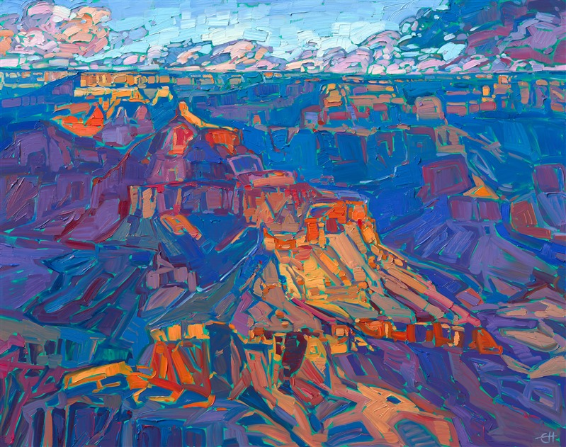 Grand Canyon original oil painting for sale by contemporary impressionist Erin Hanson.