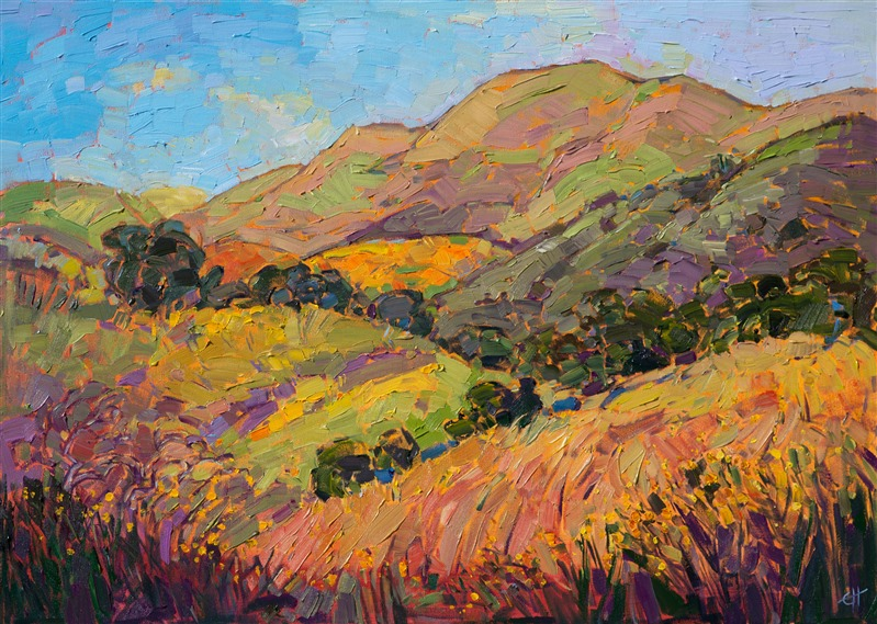 Carmel Valley California landscacpe oil painting for art collectors, by Erin Hanson.
