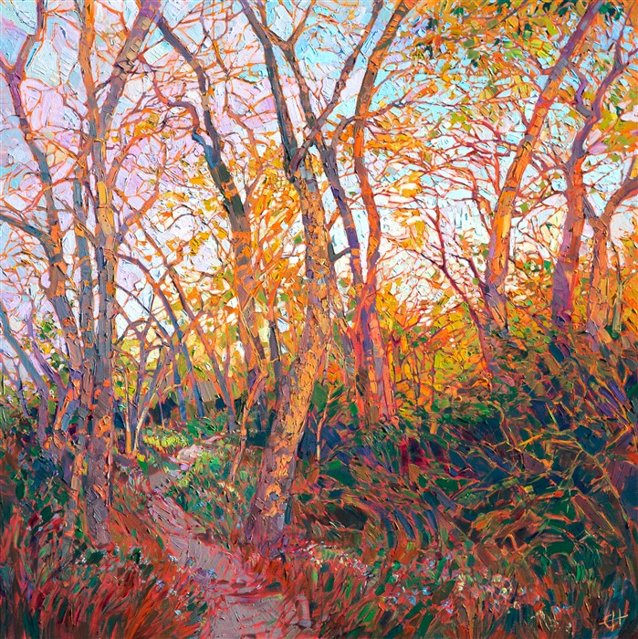 Texas landscape oil painting beautiful outdoors impressionism by Erin Hanson