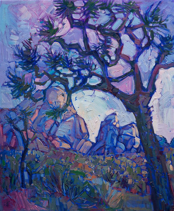 Joshua Tree National Park original oil painting by landscape artist Erin Hanson