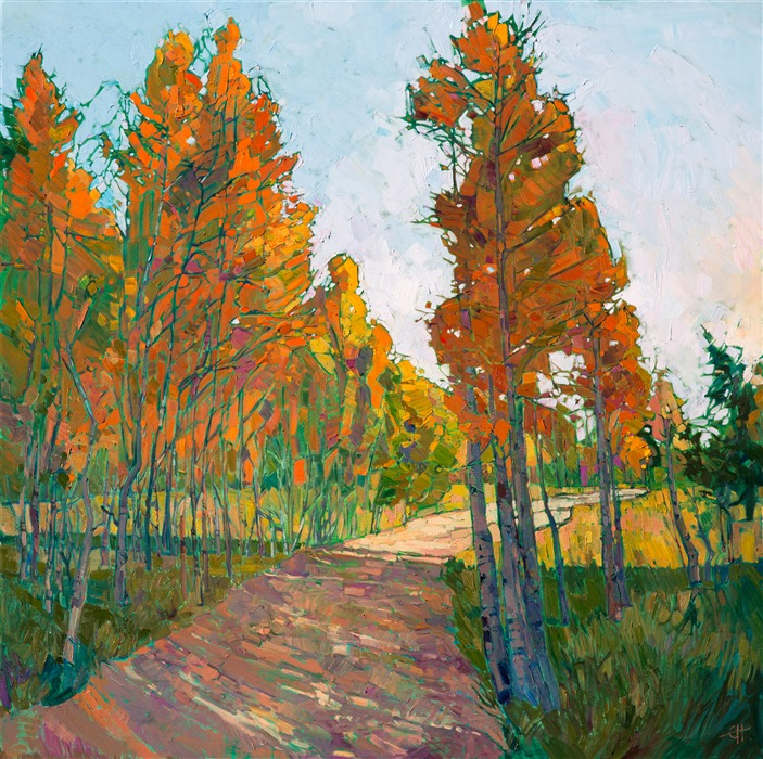 Cedar Breaks National Park landscape painting by modern impressionist Erin Hanson.