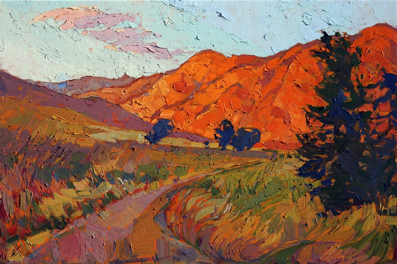 Mandarin Light, modern impressionist oil painting by Erin Hanson