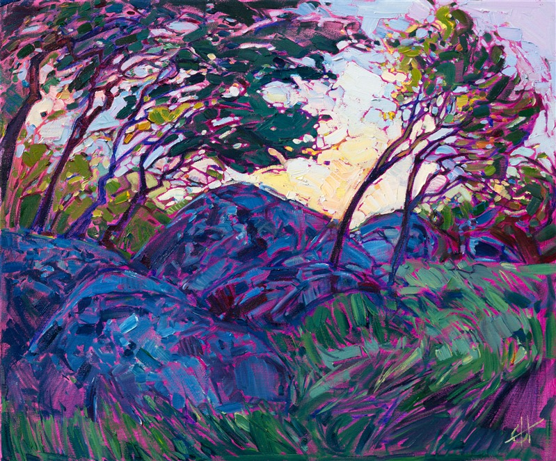 Mariposa wine country landscape painting for sale, by Erin Hanson