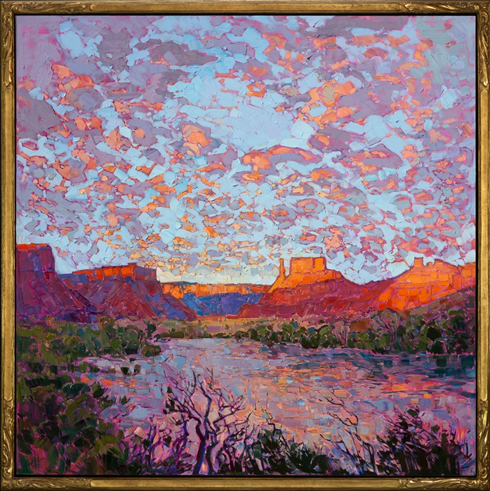 The Open Impressionism frame adorns this beautiful work, North of Arches.