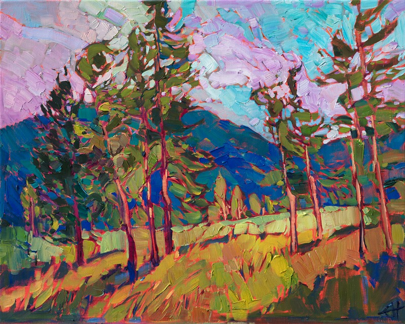 Oregon landscape oil painting by modern impressionist Erin Hanson