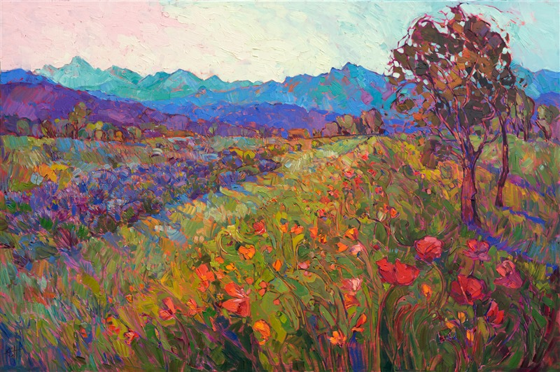 Northwest Poppies original oil painting by new impressionist Erin Hanson