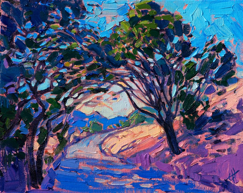 Small collectible oil paintings by contemporary master impressionist Erin Hanson