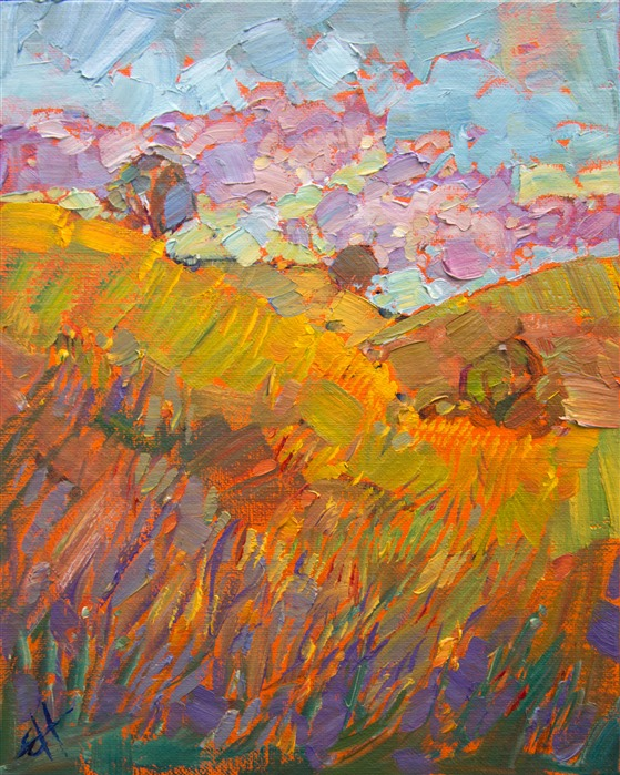 Paso Robles In Beautiful Springtime Color, By Modern Painter Erin Hanson