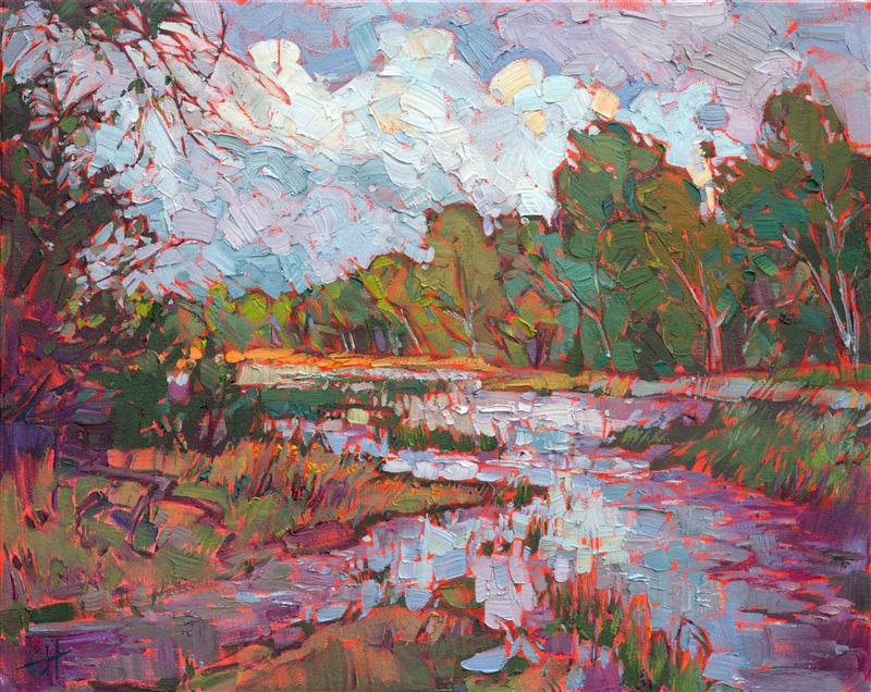 Texas landscape oil painting by abstract impressionist Erin Hanson