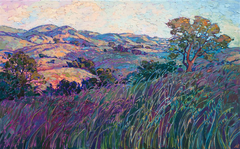 Modern California impressionism painting of Paso Robles by Erin Hanson