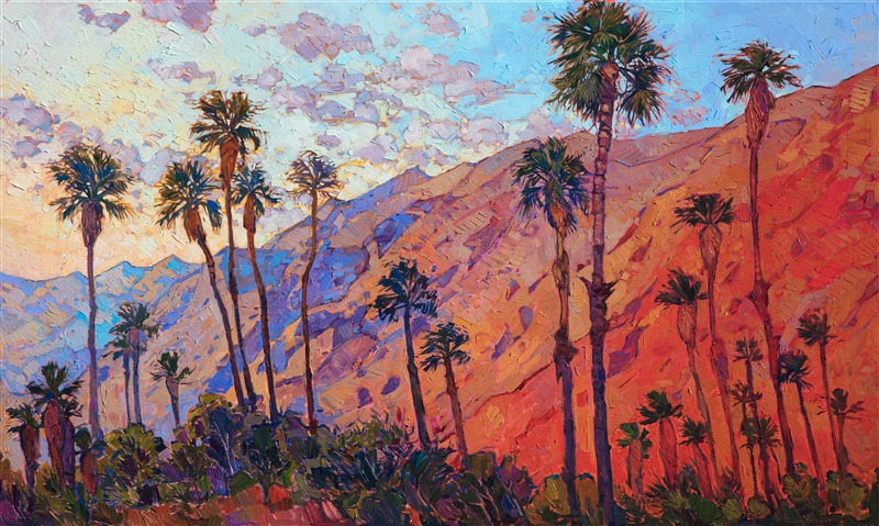 La Quinta Arts Festival poster painting for 2018 by Erin Hanson - Santa Rosa Embrace