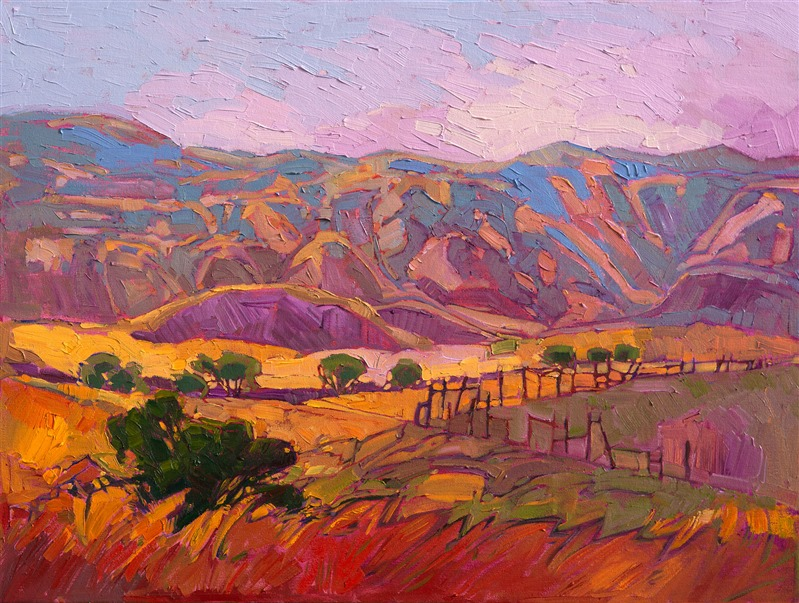 Shades of Summer, original oil painting by impressionist painter Erin Hanson.