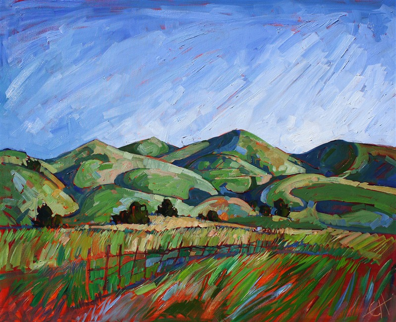 Shadows in the Hills - Purchase Contemporary Impressionism