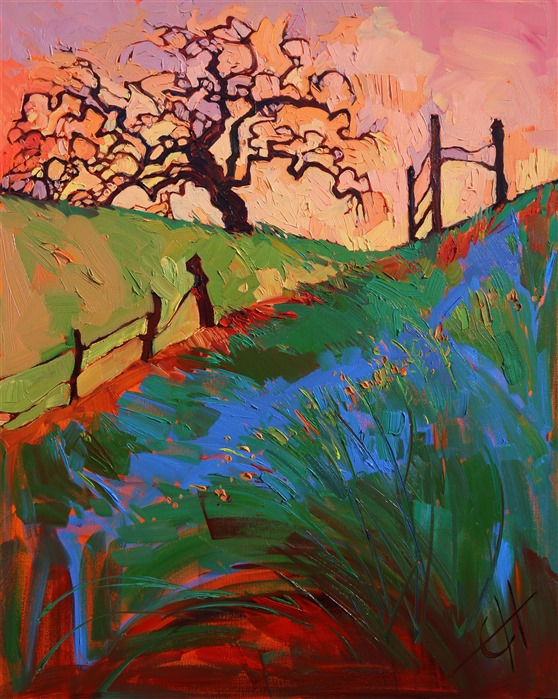 Sherbet Oak, original oil painting of Paso Robles