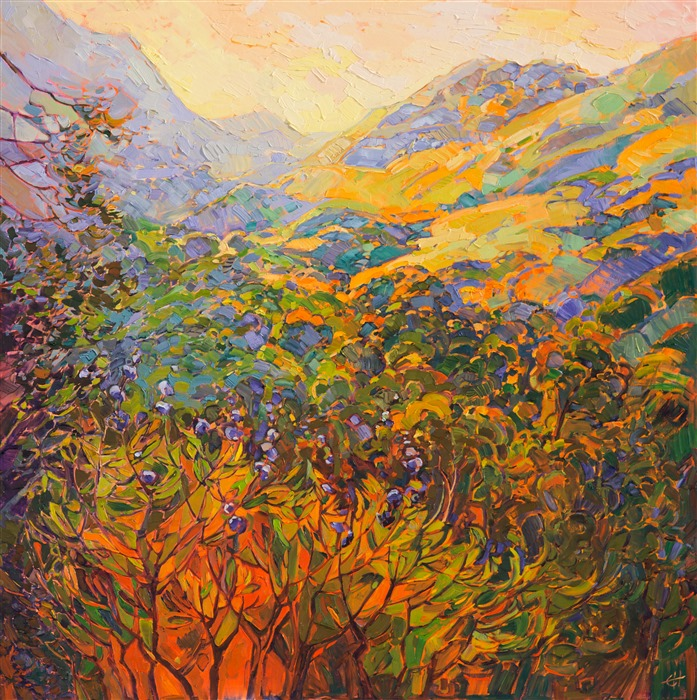California impressionism oil painting by impasto painter Erin Hanson.