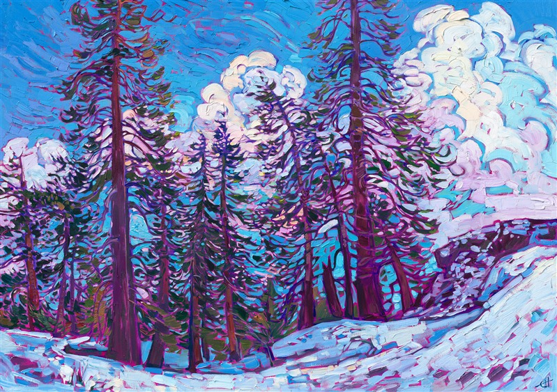 Sierra Snow contemporary oil painting for sale by The Erin Hanson Gallery