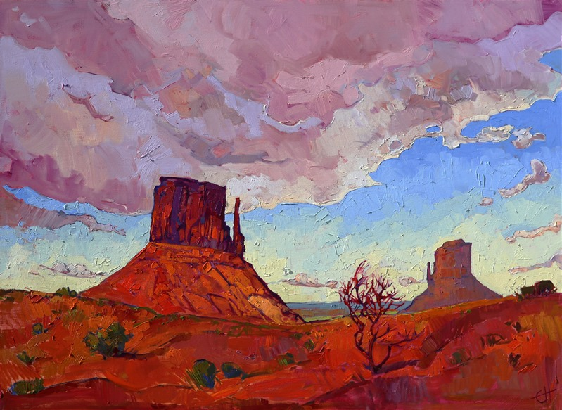 Monument Valley original oil painting of the Colorado Plateau by Erin Hanson