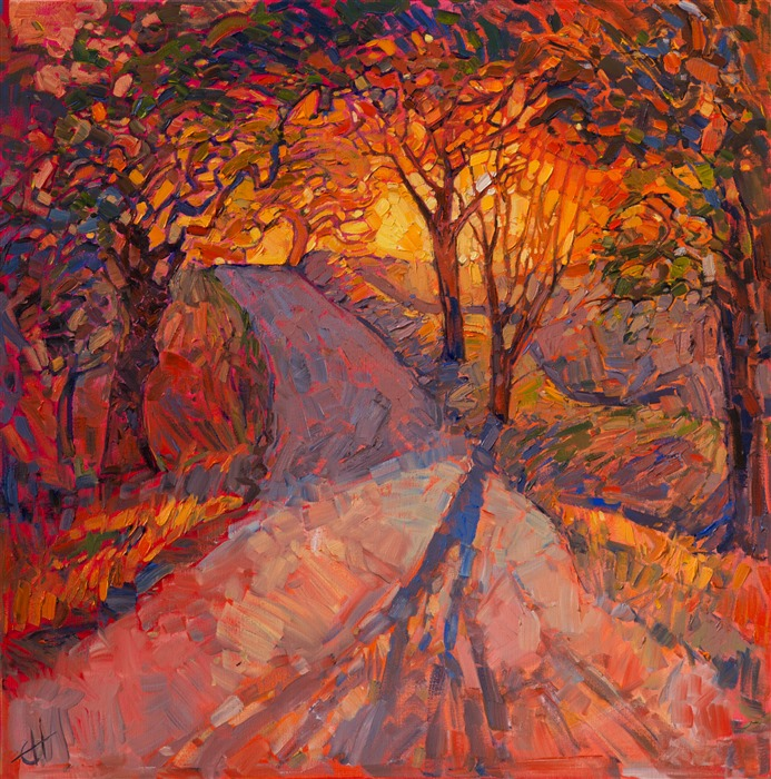 Crystalline light in a vivid oil impressionistic style, by Erin Hanson.