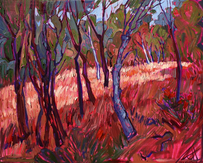 Vivid modern impressionism artwork for sale by Erin Hanson