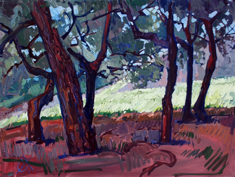 Under the Oaks, California impressionist oil painting by Erin Hanson