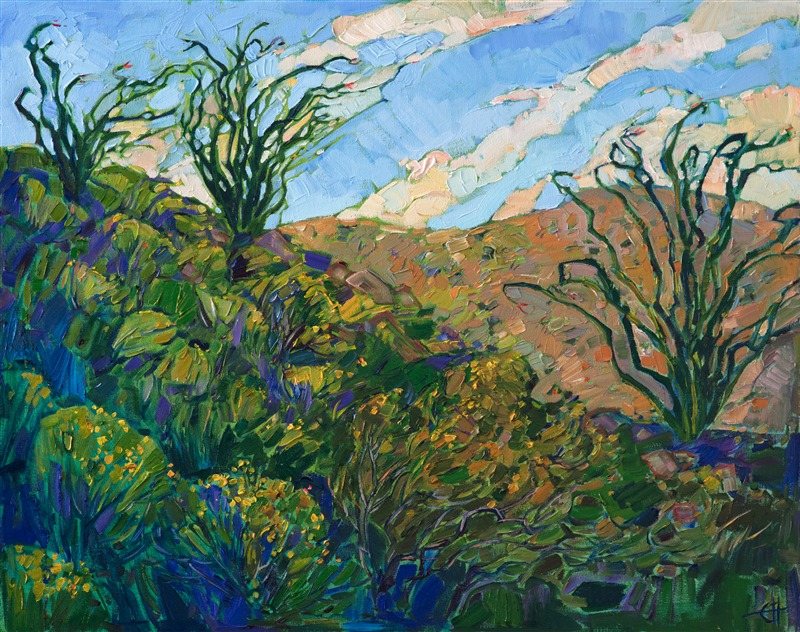 Borrego Springs ocotillo painting by modern impressionist painter Erin Hanson