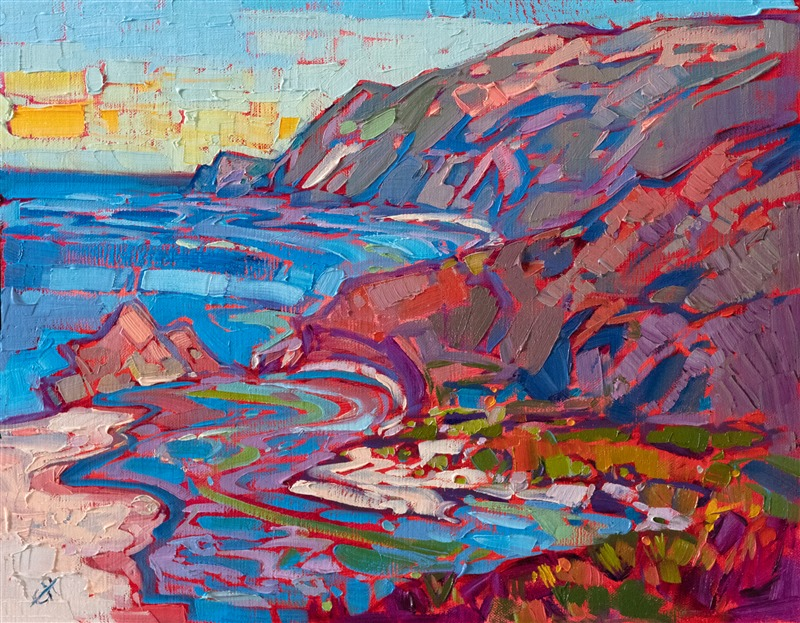 California coast oil painting Big Sur by impressionism painter Erin Hanson