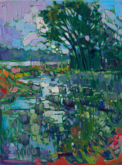 Petite collectible oil paintings for sale by contemporary impressionist Erin Hanson.