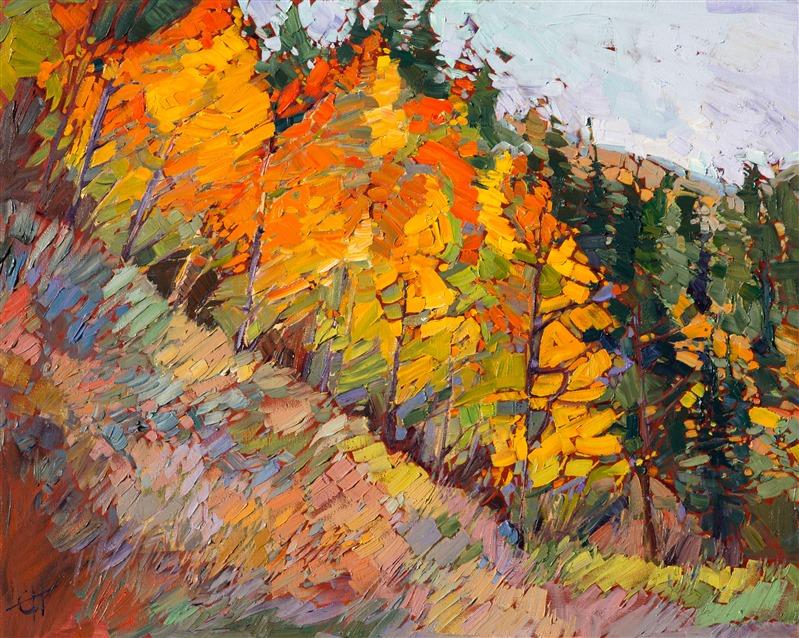 Woods of Gold, by Erin Hanson, featuring Aspen trees of Cedar Breaks