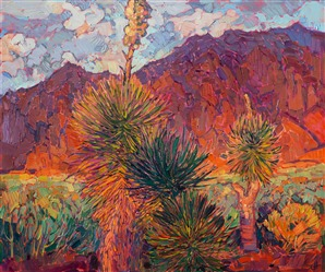 Kayenta, Utah, landscape oil painting by contemporary painter Erin Hanson.