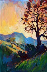 Mosaic light patterns painted in impasto oils by California impressionist Erin Hanson