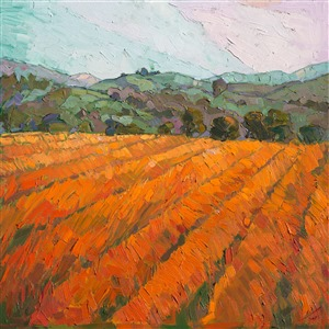 California wine country oil painting of Paso Robles, by Erin Hanson