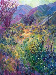 Borrego Springs 2017 super bloom painting by San Diego artist Erin Hanson.