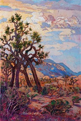 Joshua Tree National Park - original oil painting by modern impressionist landscape artist Erin Hanson.