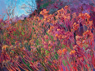 Wildflowers at Canyonlands National Park, painted in vibrant oils by Erin Hanson