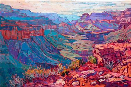 Grand Canyon original oil painting landscape by modern impressionist Erin Hanson