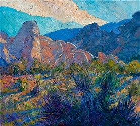 Joshua Tree California desert impressionism oil painting by Erin Hanson