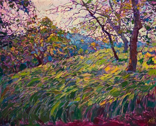Open impressionism oil painting by Erin Hanson.