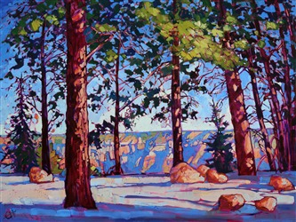 Grand Canyon North Rim oil painting landscape by renowned artist Erin Hanson