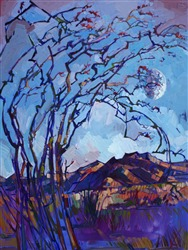 Abstract mosaic oil painting of Borrego Springs, by Erin Hanson