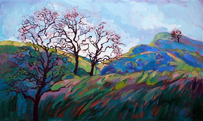 Colorist oil painting landscape by impressionism painter Erin Hanson