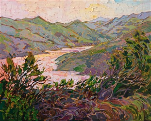 Paso Robles petite oil painting by Erin Hanson