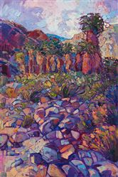California desert contemporary impressionist oil painting by Erin Hanson.