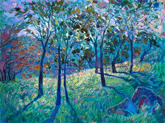Crystal Blues, an original series of impressionist landscape paintings by Erin Hanson.