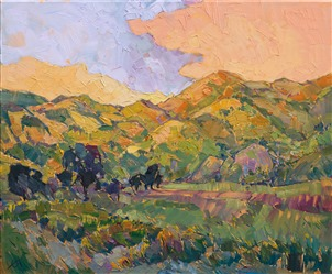 California landscape painted in impressionistic oils by modern impressionist Erin Hanson.