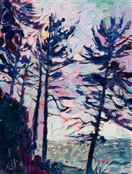 Washington coast contemporary impressionism oil painting of Dungeness Bay, by Erin Hanson