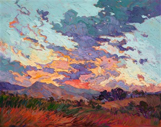Bold new impressionist oil painting by contemporary master Erin Hanson