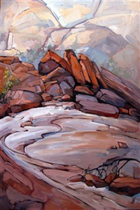 Red Rock Canyon oil painting by rock climber and painter Erin Hanson
