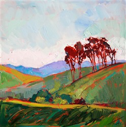 Abstract shapes in the landscape: oil painting of Napa Valley by Erin Hanson